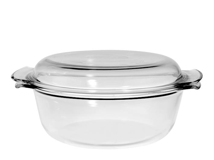 Casseruola in pyrex con coperchio 2,5 litri
