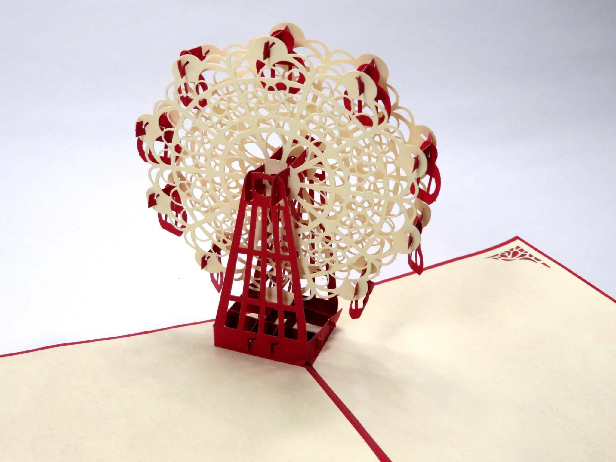 Biglietto augurale ruota panoramica Origamo