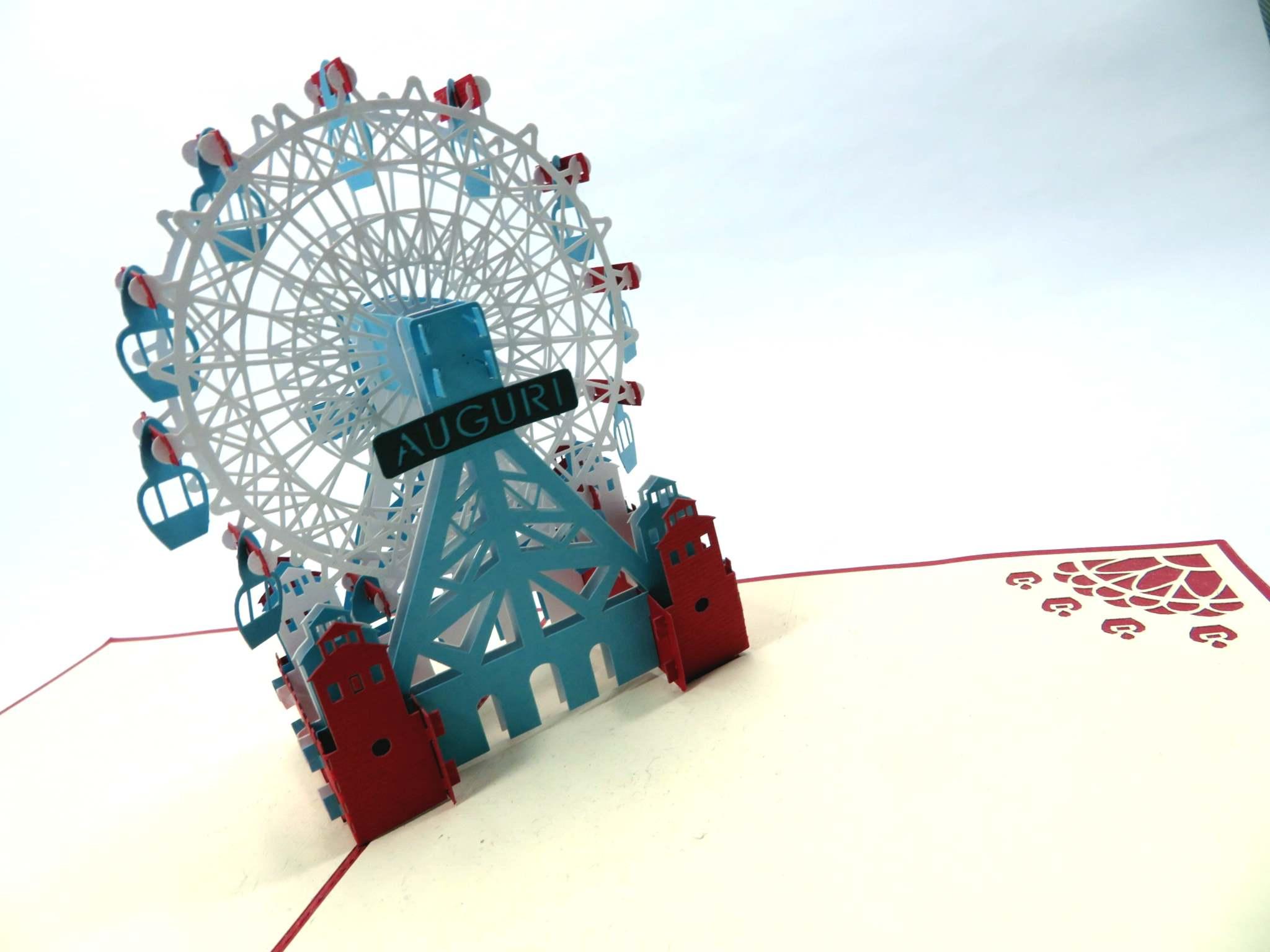Bigleitto augurale 'Ruota panoramica' Origamo