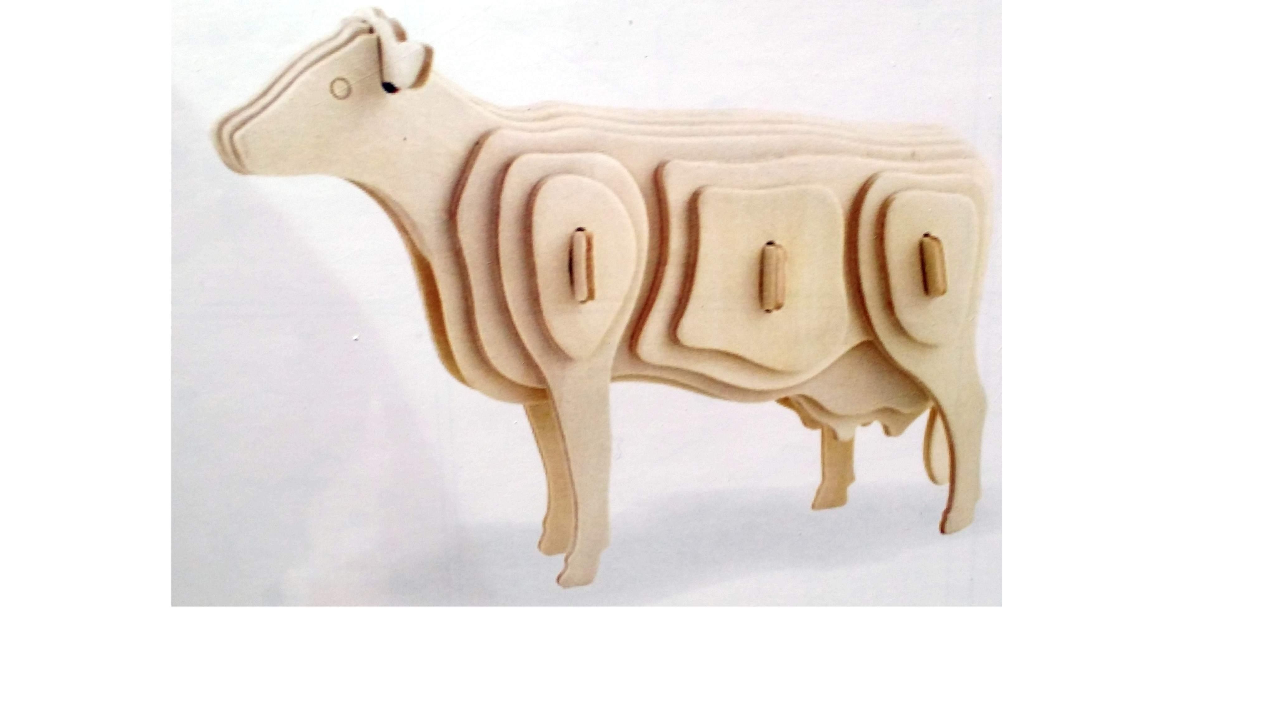 Puzzle 3D facile mucca
