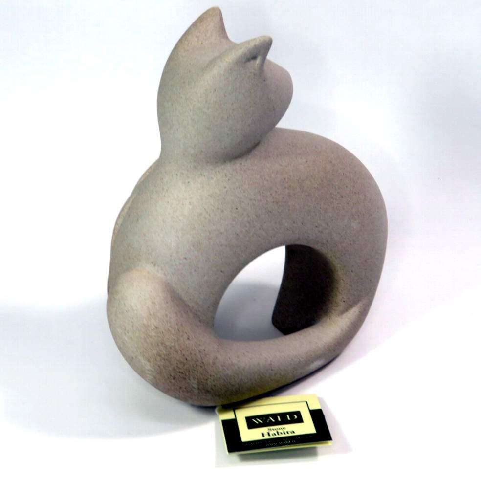 Statua gatto grigio Habita di Wald