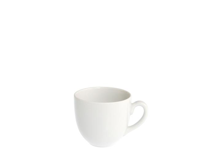 Tazza te in porcellana bianca senza piatto