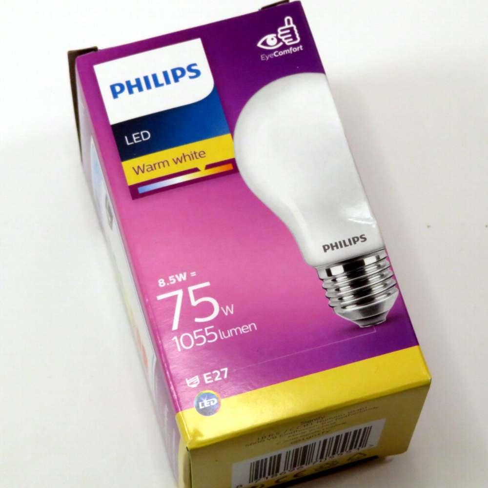 Lampada goccia led satinata e27 8w Philips