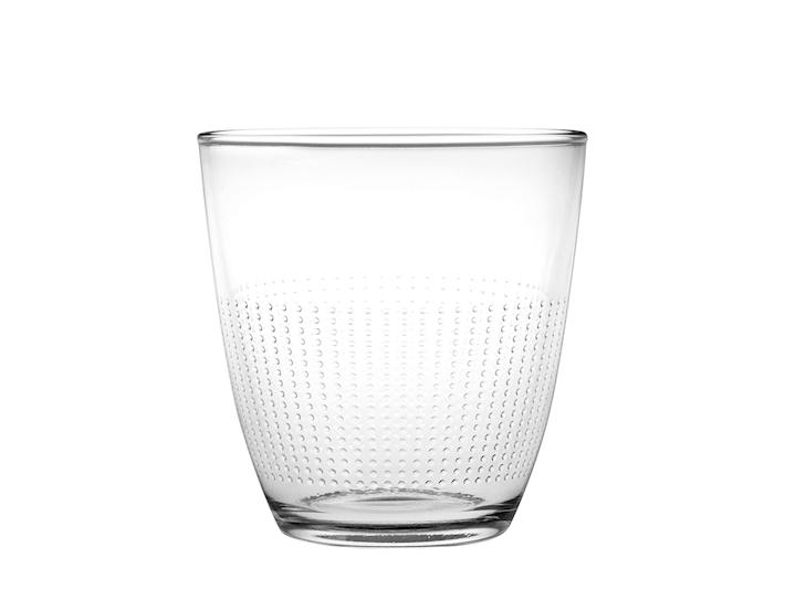 Bicchiere a pois con lavorazione a puntini in rilievo