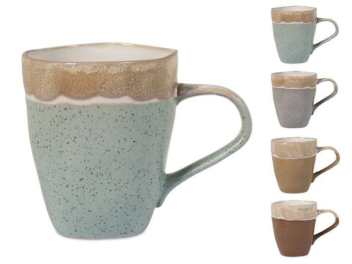 Tazza mug irregolare nella forma decoro Malika 37cl