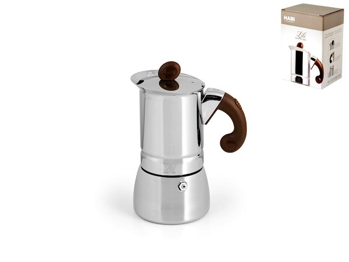 Caffettiera in acciaio Lili 2 tazze induzione