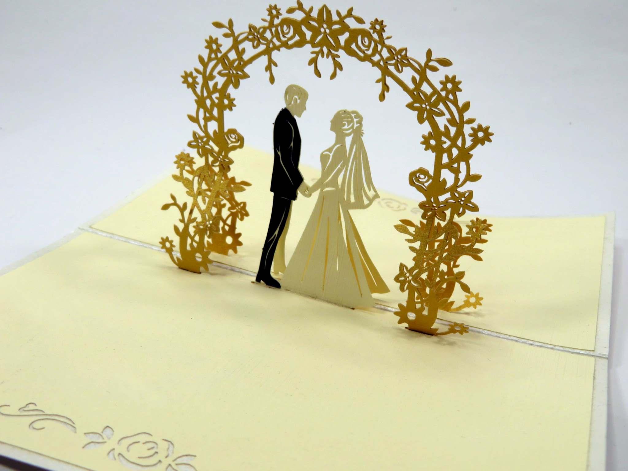 Biglietti augurali 'Arco degli sposi' Origamo
