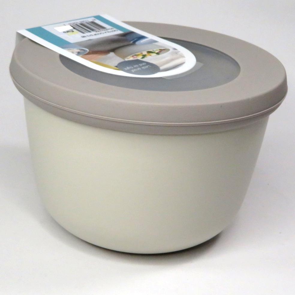 Ciotola con coperchio trasparente 500ml bianca