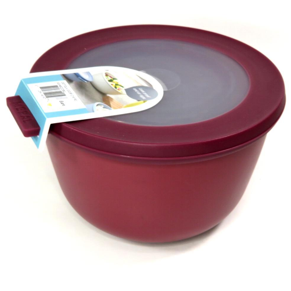 Ciotola con coperchio trasparente 1 litro rossa