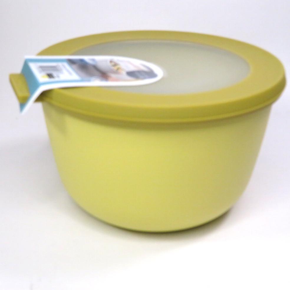 Ciotola con coperchio trasparente 1 litro gialla
