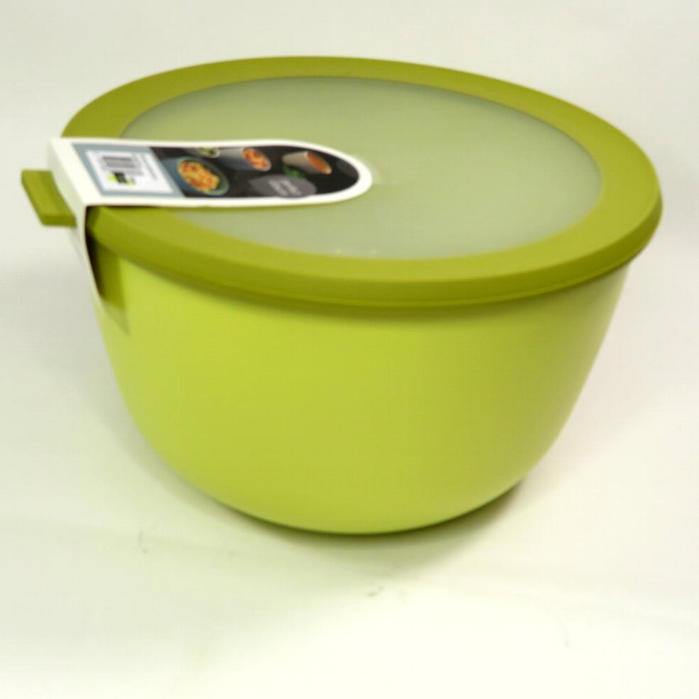Ciotola con coperchio trasparente 3 litri gialla