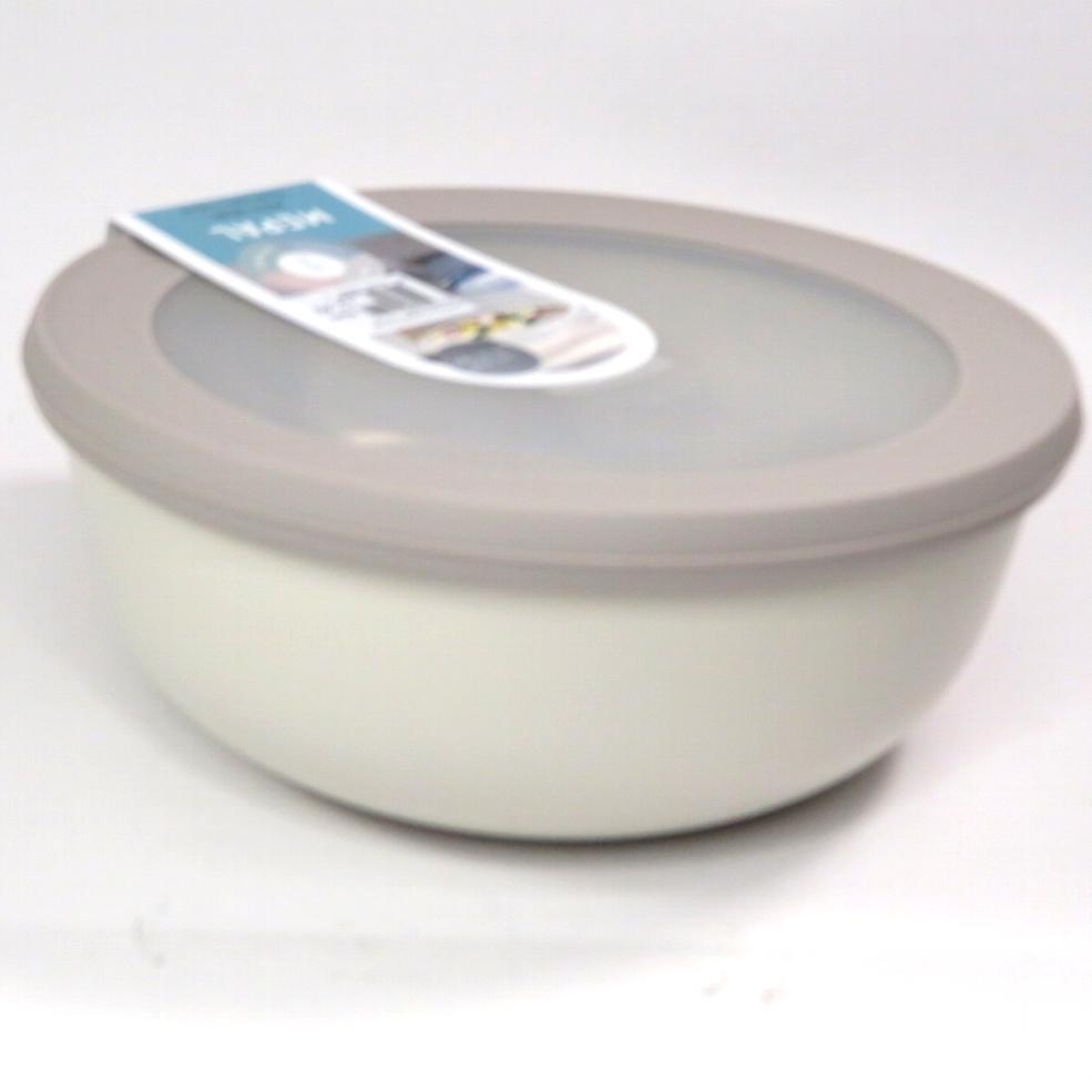 Ciotola bassa con coperchio trasparente 750ml  bianca
