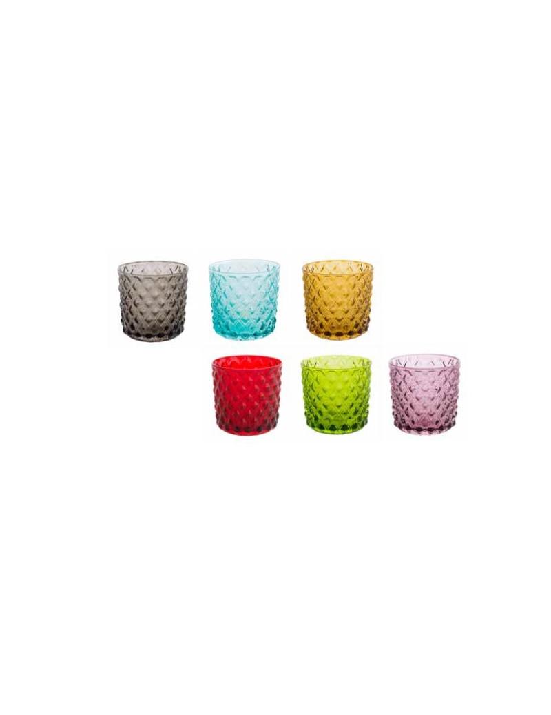 6 bicchieri colorati assortiti