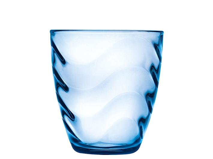 Bicchiere azzurro in vetro