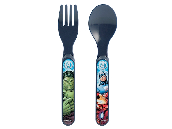 Confezione posatine per bambino Avengers