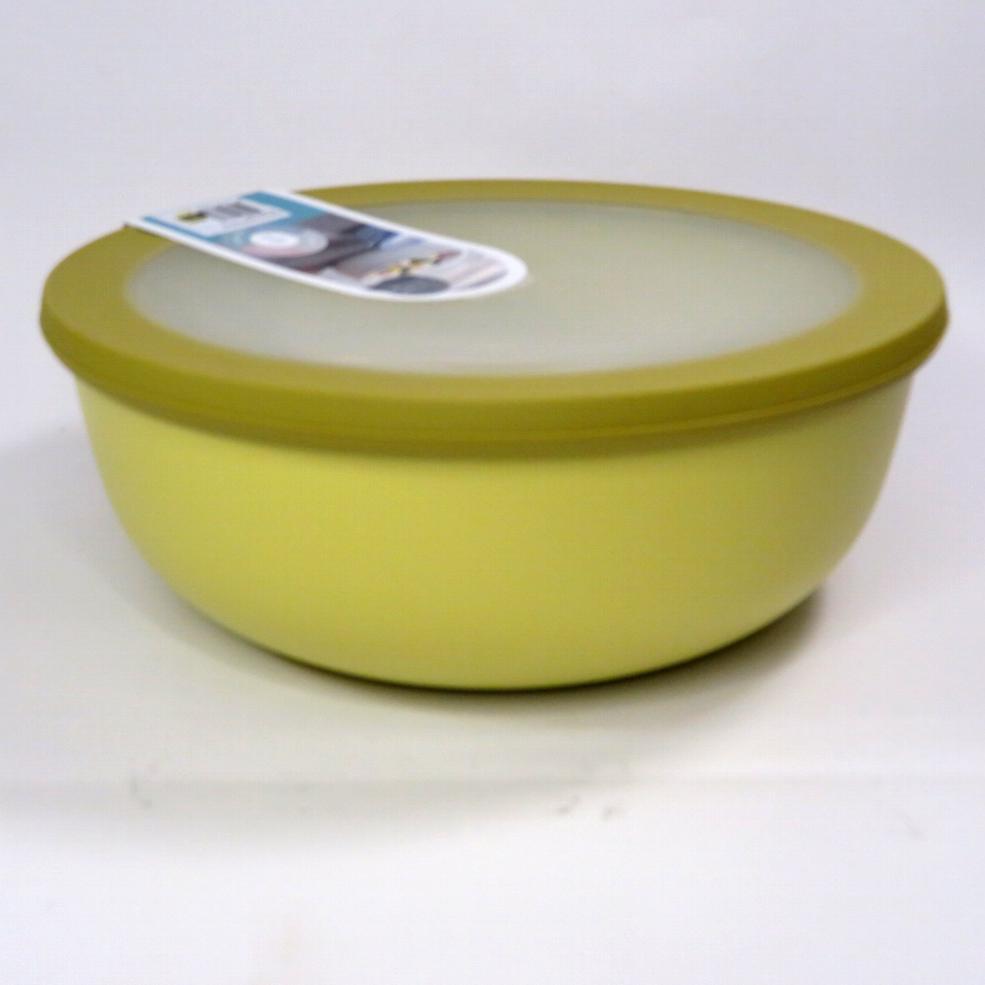 Ciotola bassa con coperchio trasparente 350ml   gialla