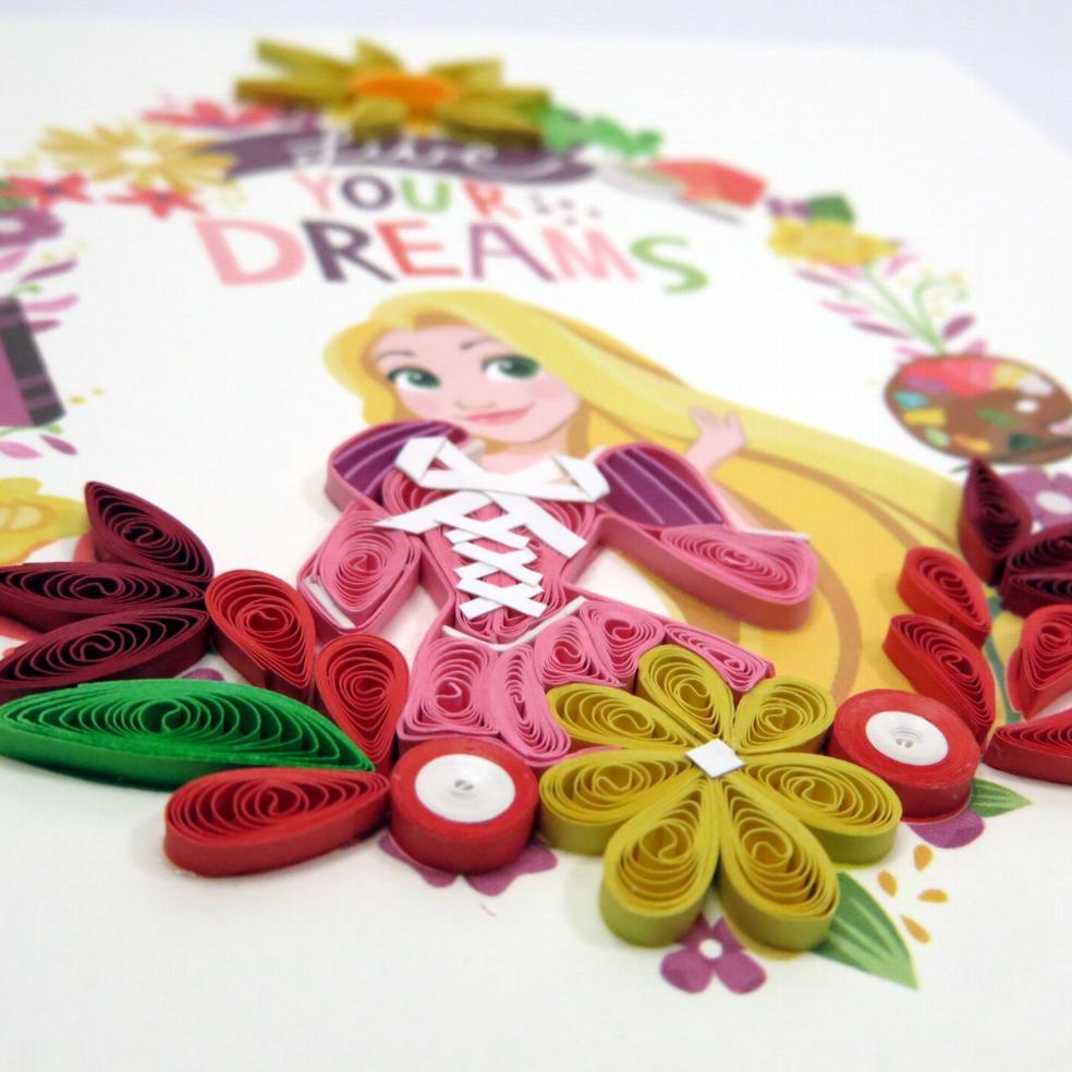 Biglietti augurali in filigrana 'Rapunzel'
