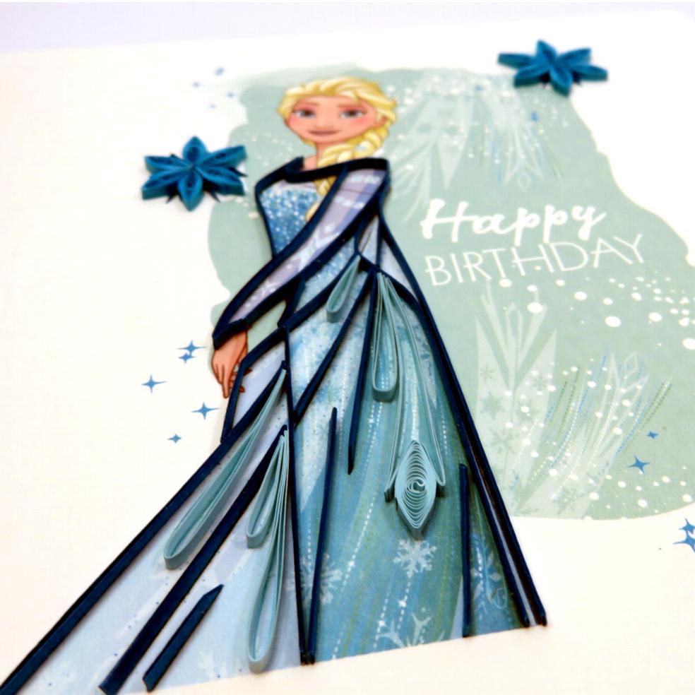 Biglietti augurali in filigrana 'Frozen'
