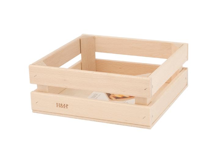 Cassetta in legno porta oggetti in tavola