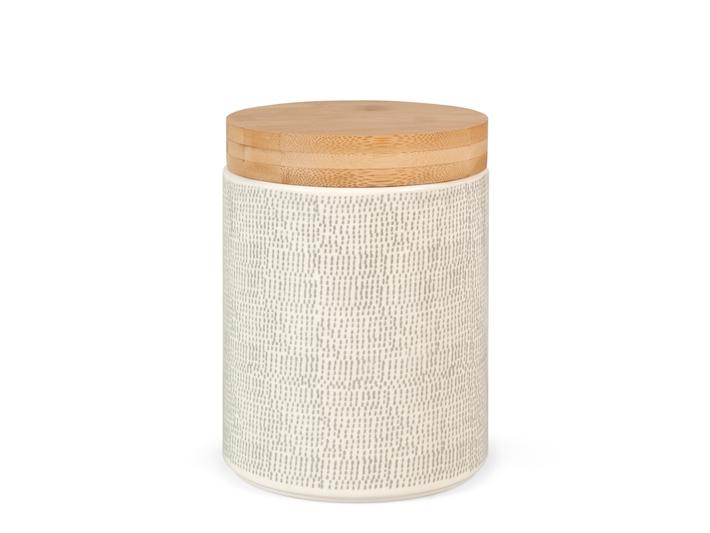 Barattolo in porcellana 1,7 litri con coperchio in legno