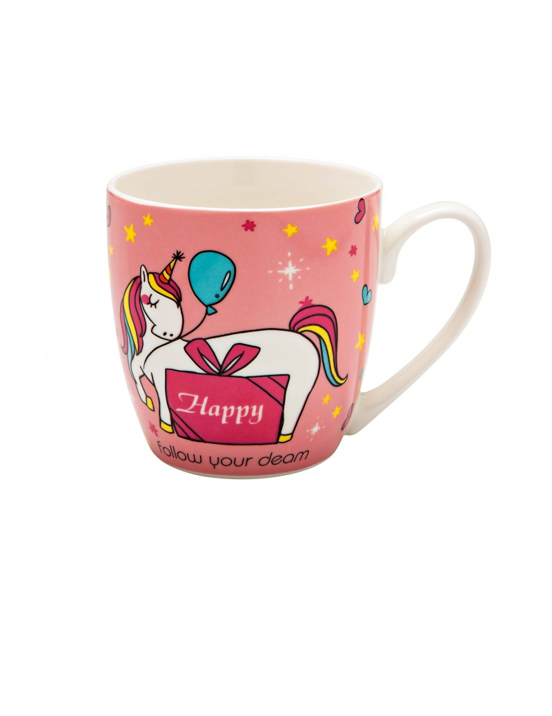 Tazza mug in porcellana unicorno assortiti