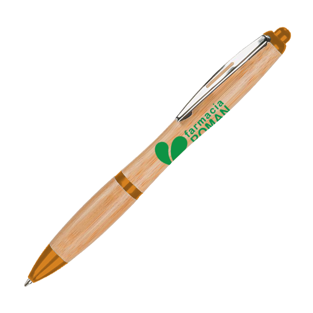 Penna a sfera in banbù color