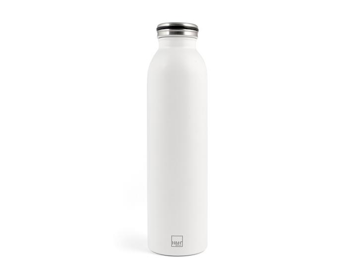 Bottiglia termica in acciaio bianco da 750ml