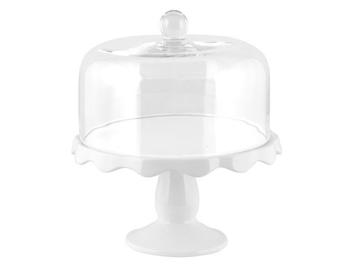 Alzata per dolci in ceramica con campana in vetro d28