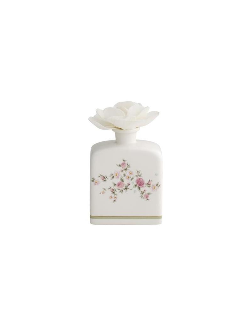 Diffusore di profumo in porcellana decorato floreale con fiore carta