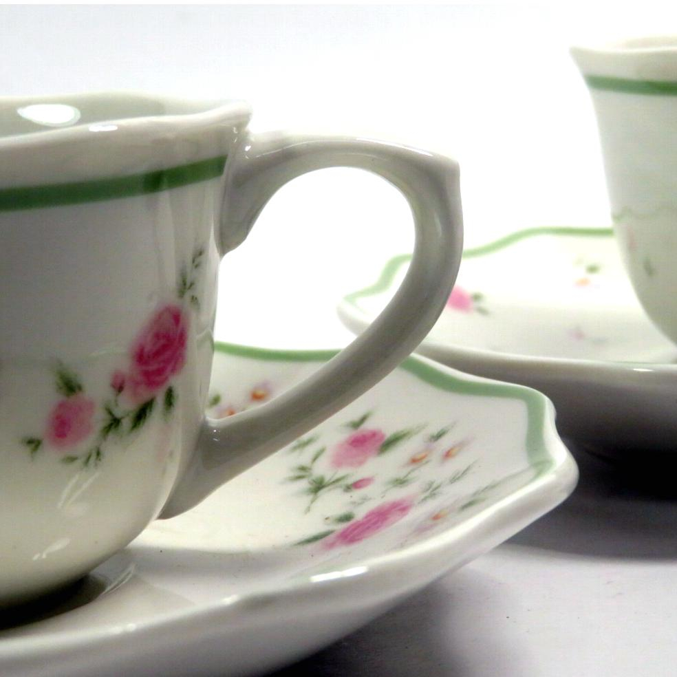 2 tazze da té decoro della nonna floreale