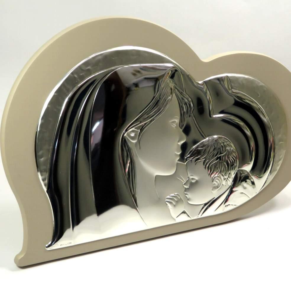 Icona sacra famiglia cuore 37cm