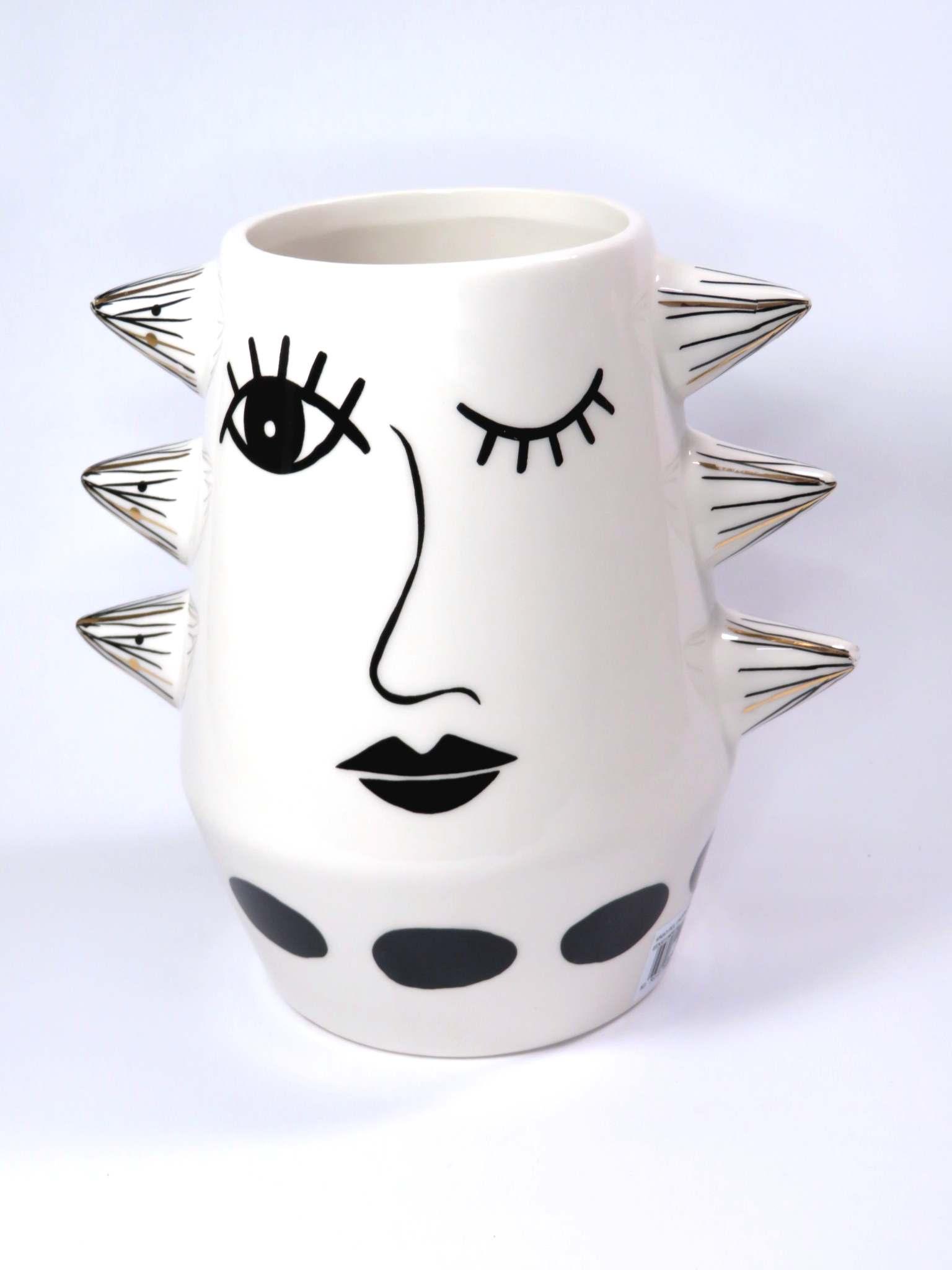 Vaso porcellana Faccia cm20