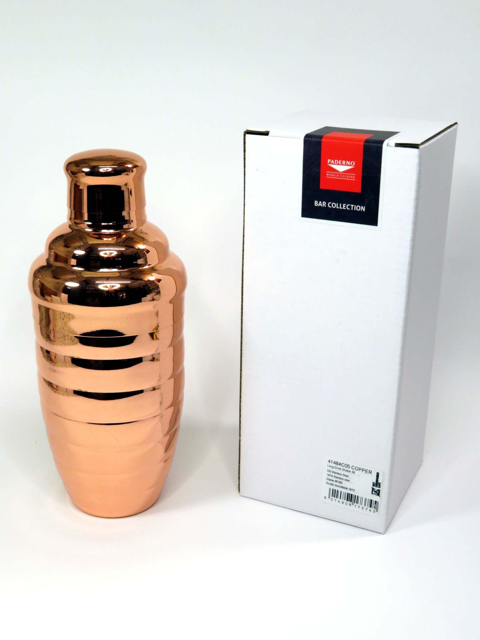 Shaker inox effetto rame 500ml