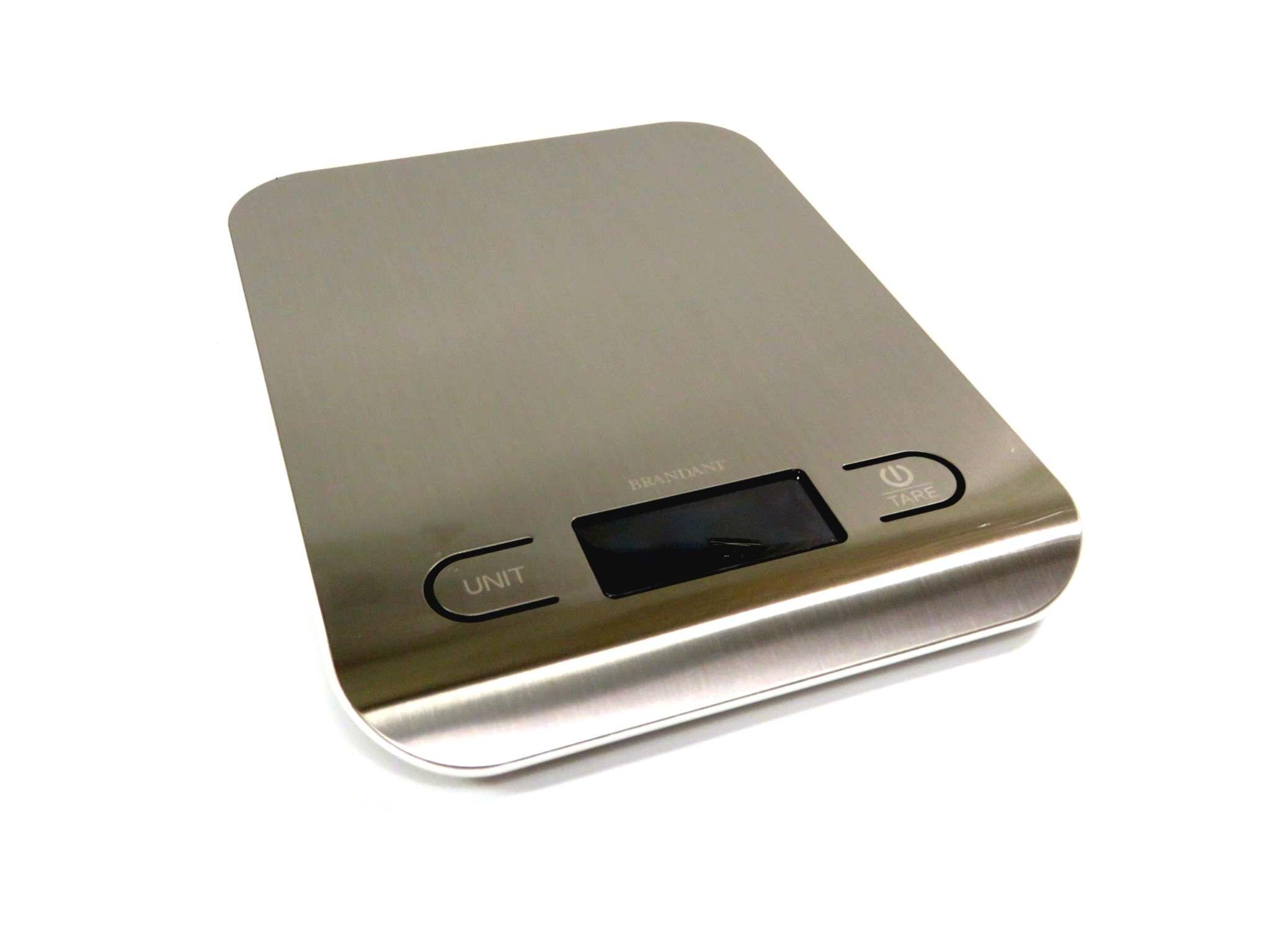 Bilancia digitale 5kg in acciaio satinato