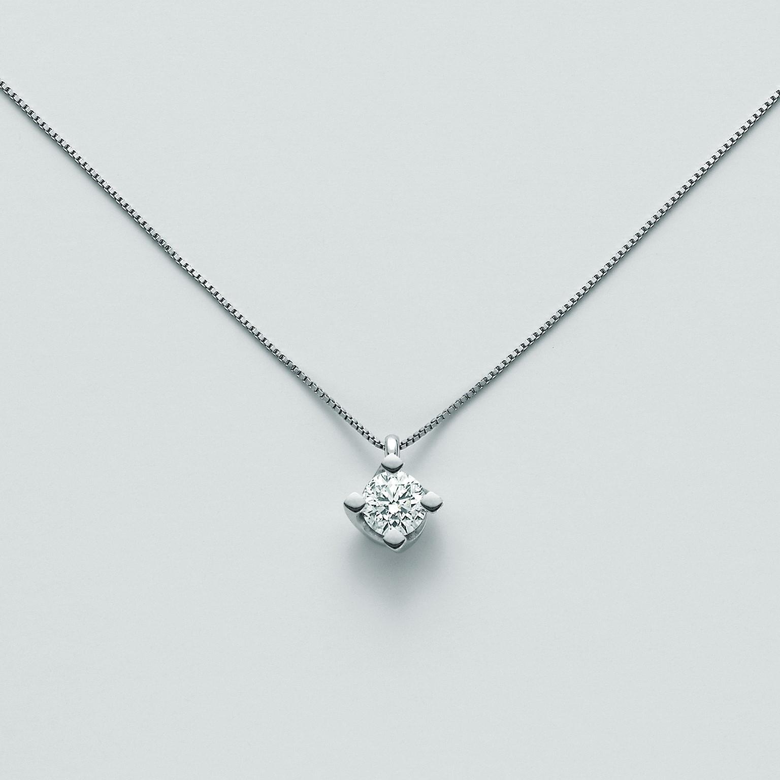 MILUNA-Collana in oro con diamante