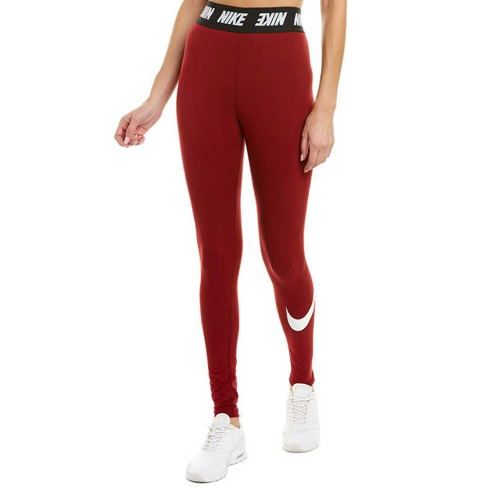 Nike Leggings Sportswear Bordeaux da Donna