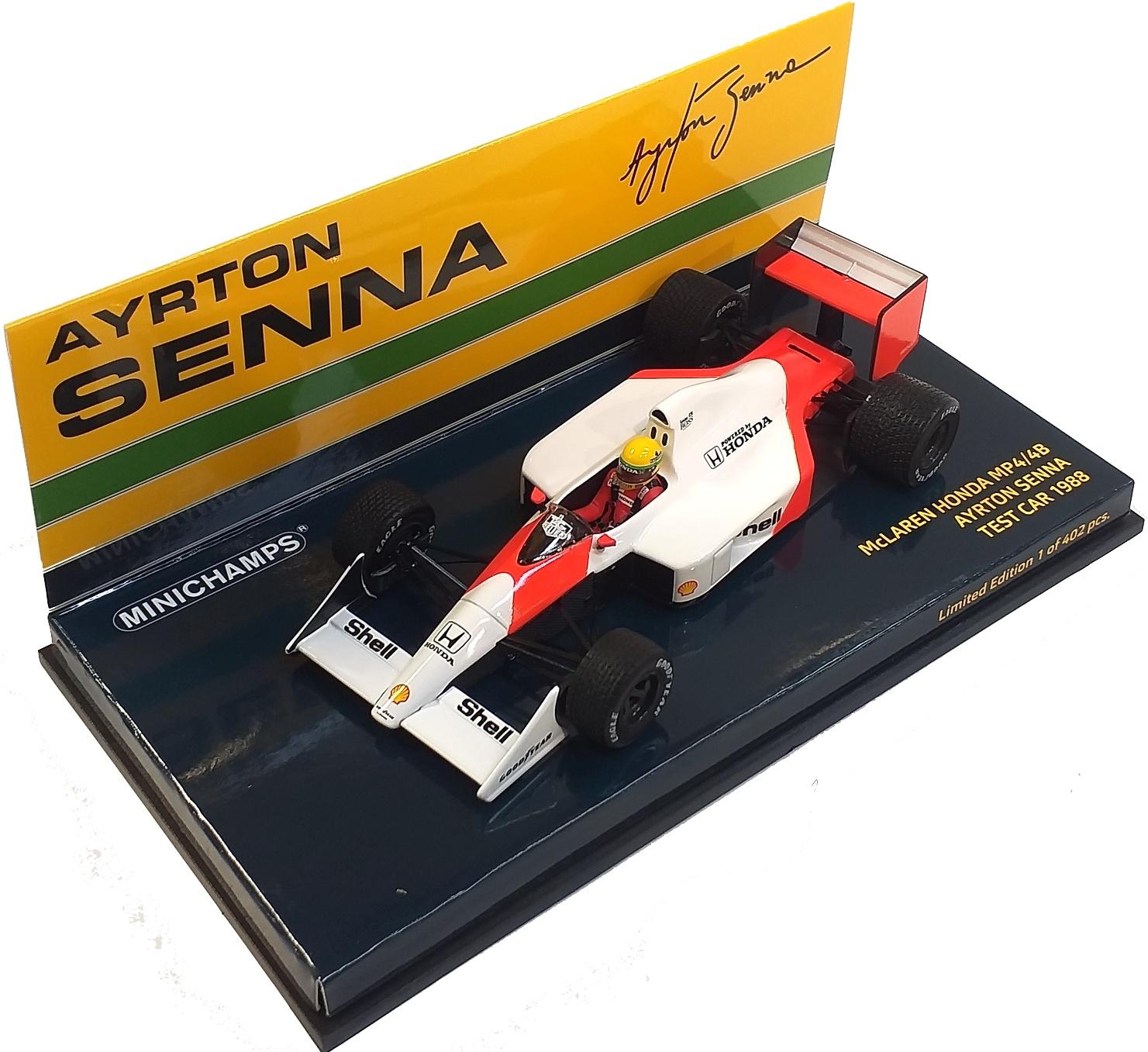 McLaren Honda MP4/4B Ayrton Senna Test Car 1988 1/43