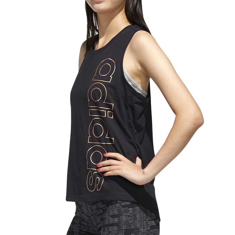 Adidas Canotta Lunga Black/Gold da Donna