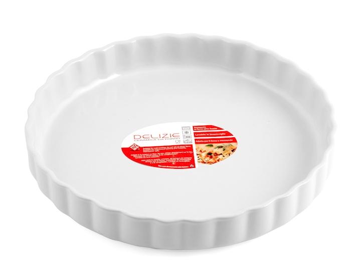 Tortiera da forno bianca rotonda cm29