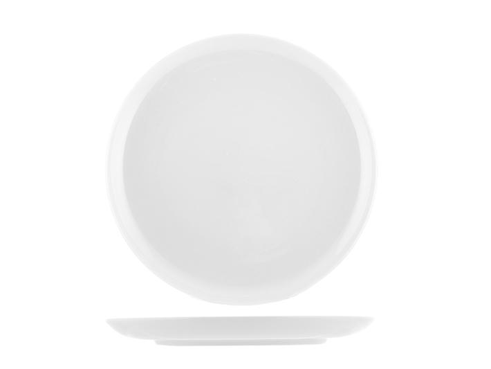 Piatto piano cm19 in porcellana bianca Oslo