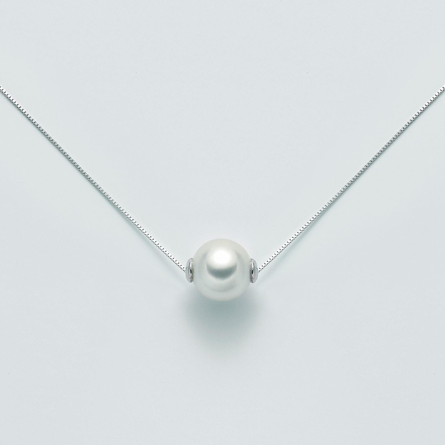 MILUNA-Collana in oro con perla akoya