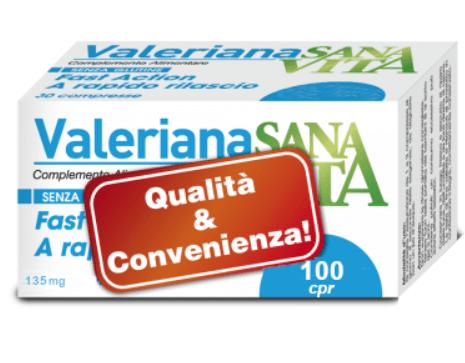 Valeriana 100 Compresse è tradizionalmente impiegato per favorire la riduzione di agitazione, nervosismo e predisporre l'organismo al riposo notturno.