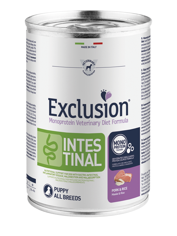 EXCLUSION INTESTINAL MAIALE E RISO  PUPPY ALL BREEDS 400gr