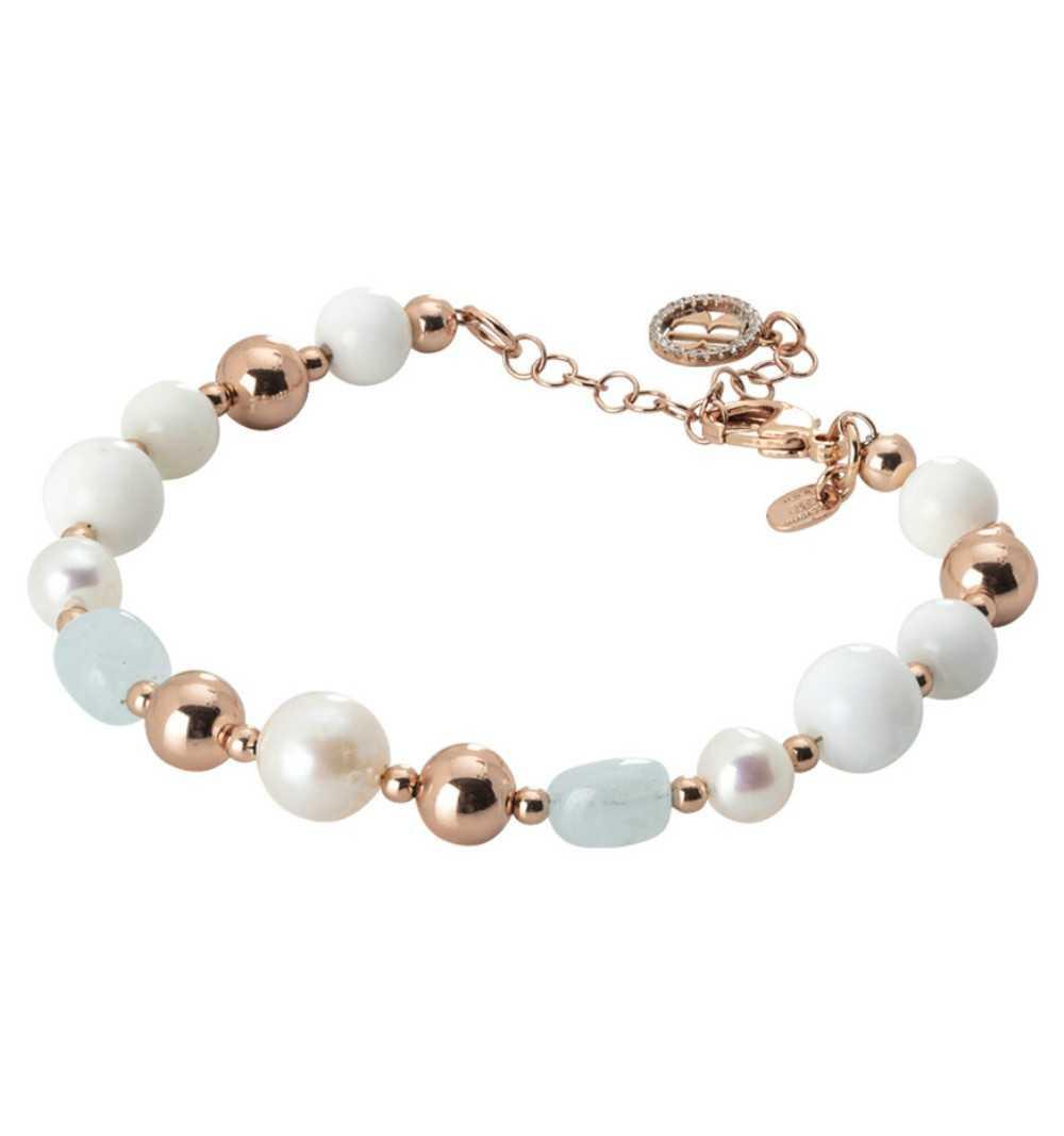Boccadamo-Bracciale da donna con perle naturali