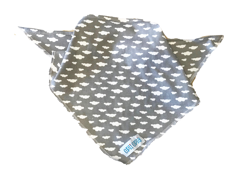 Nuvolette- bandana estiva a triangolo