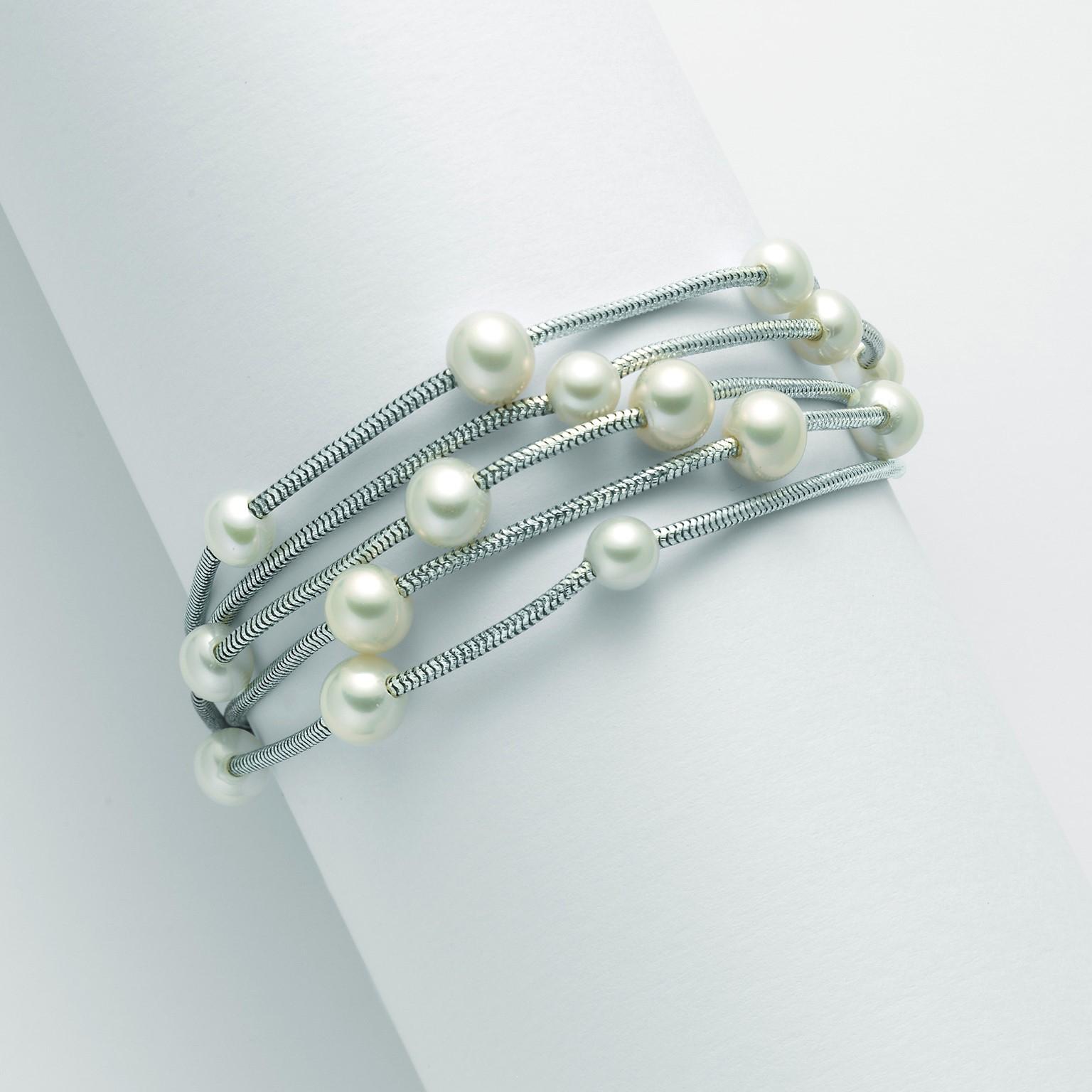 MILUNA-Bracciale in argento con perle