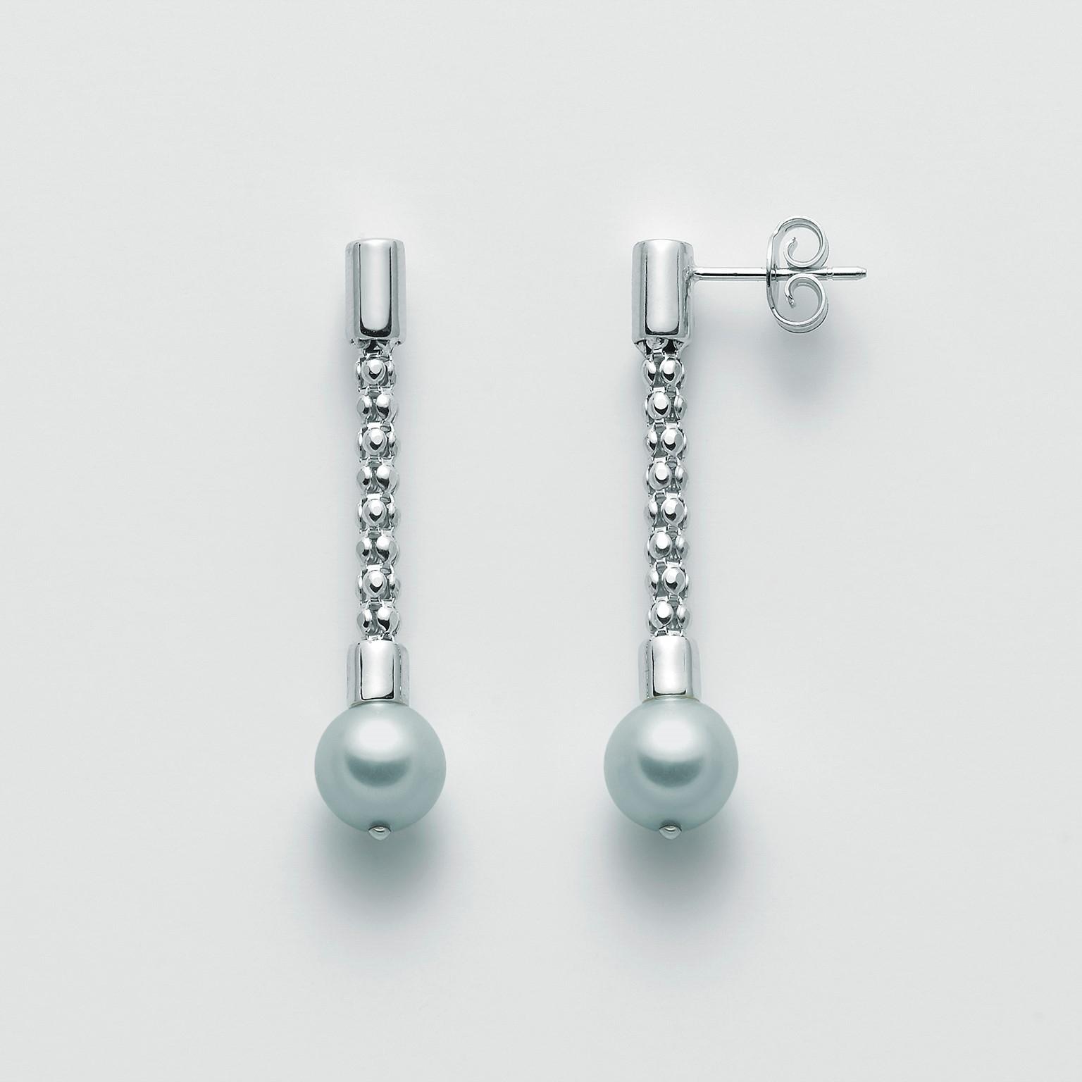 MILUNA-Orecchini di perle in  argento