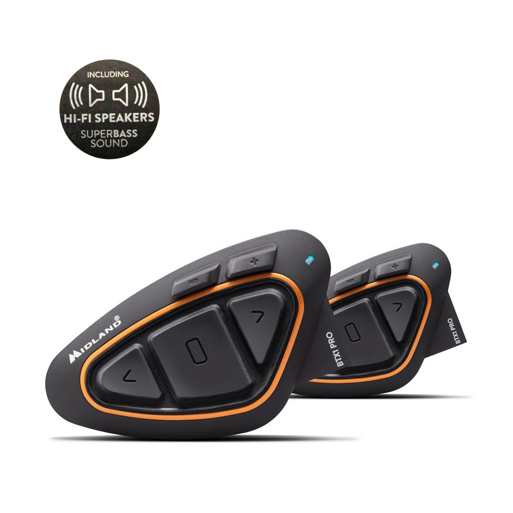 Interfono Midland BTX1 PRO Twin Pack Hi-Fi Speakers Super Bass Sound