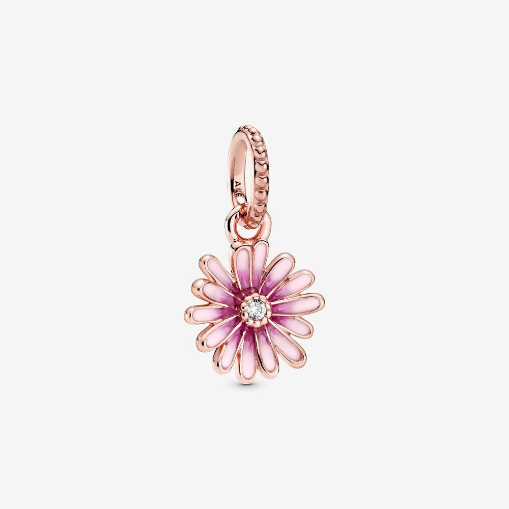 Charm pendente Margherita rosa
