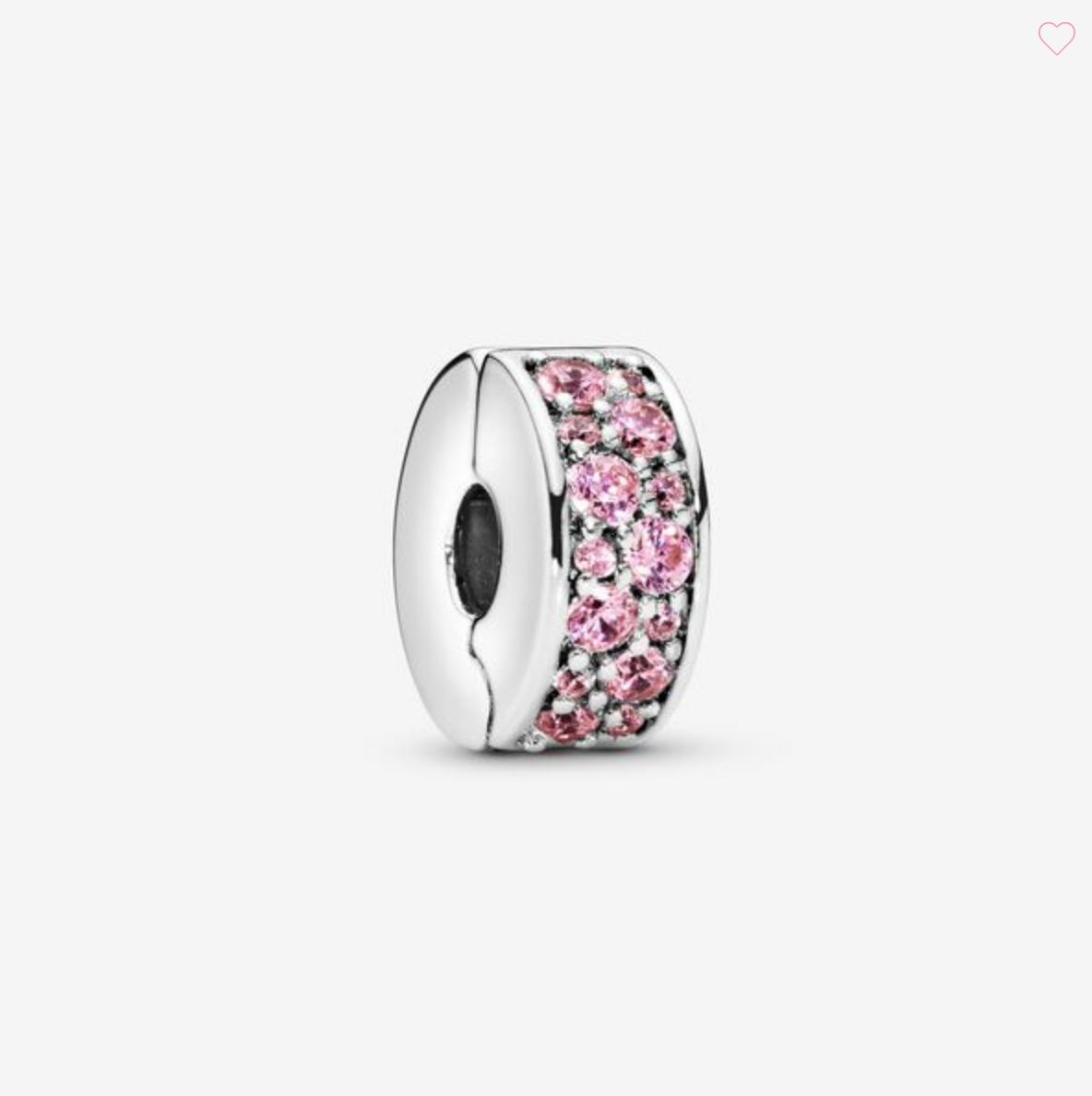 Clip con pavè rosa
